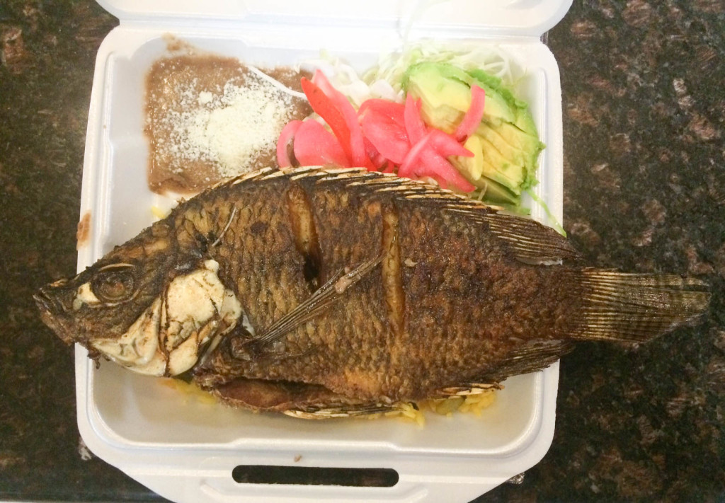 Delicious: Another one of Romero's favorites from Bibi's Cafe: pescado frito.