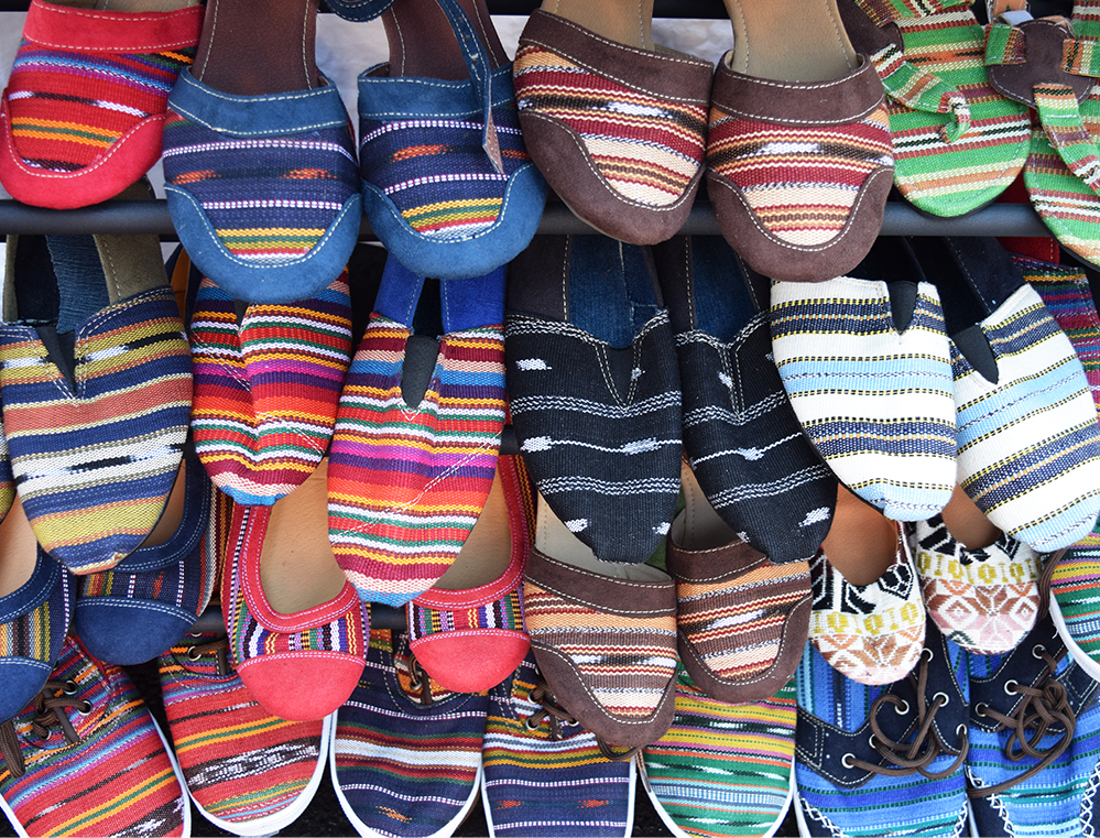 FASHION: One Guatemalan vendor sold a variety of friendship bracelets, dresses, shoes, and other handmade goods. The goods were made in Guatemala and